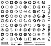 loading indicators vector set