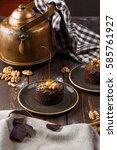 georgian dessert. georgian... | Shutterstock . vector #585761927