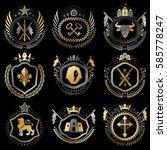 collection of vector heraldic... | Shutterstock .eps vector #585778247