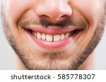 close up image of perfect male... | Shutterstock . vector #585778307