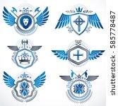 vintage heraldry design... | Shutterstock .eps vector #585778487