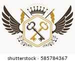 vector vintage heraldic coat of ... | Shutterstock .eps vector #585784367