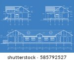 the author's architectural... | Shutterstock .eps vector #585792527