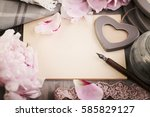 retro background with old empty ... | Shutterstock . vector #585829127