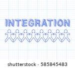 integration text hand drawn... | Shutterstock .eps vector #585845483