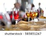 few glasses of wine  champagne