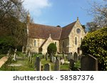 Small photo of The newer of the two churches dedicated to Saint Boniface in the village of Bonchurch on the Isle of Wight. The poet Algernon Charles Swinburne is buried in this graveyard.
