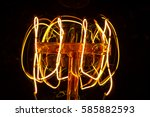 vintage incandescent lamp | Shutterstock . vector #585882593