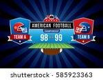 vector of american football... | Shutterstock .eps vector #585923363
