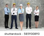 team of young creative... | Shutterstock . vector #585930893