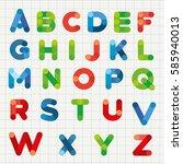 vector alphabet    Shutterstock .eps vector #585940013
