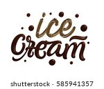 ice cream. dark melted... | Shutterstock .eps vector #585941357
