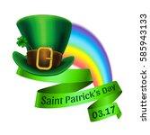 st.patrick's day logo. rainbow... | Shutterstock .eps vector #585943133