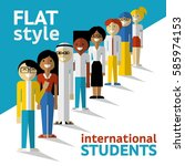 vector flat style illustration... | Shutterstock .eps vector #585974153