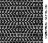 seamless hexagonal honeycomb... | Shutterstock .eps vector #585983783