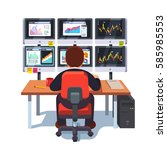 stock market exchange trader... | Shutterstock .eps vector #585985553