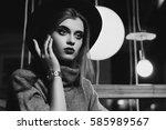 Monochrome Indoor Portrait Of...