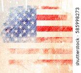 grunge usa flag | Shutterstock . vector #585998273