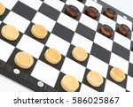 checkers game | Shutterstock . vector #586025867