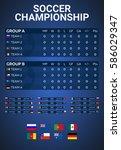 sport  football or soccer.... | Shutterstock .eps vector #586029347