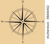 vector image of a compass rose | Shutterstock .eps vector #58606462