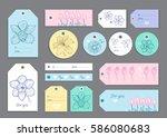 big set of creative hand drawn...   Shutterstock .eps vector #586080683