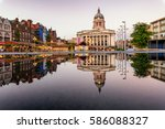 clear reflection of a council... | Shutterstock . vector #586088327
