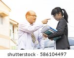 business man looking angry and... | Shutterstock . vector #586104497