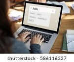 recruitment employment search... | Shutterstock . vector #586116227