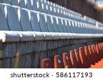 stadium seats | Shutterstock . vector #586117193
