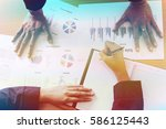 business people discussing the... | Shutterstock . vector #586125443