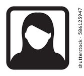 woman user icon   person... | Shutterstock .eps vector #586125947