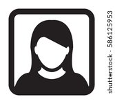 woman user icon   person... | Shutterstock .eps vector #586125953