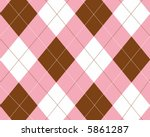 Pink  Brown And White Argyle