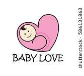 baby love logo | Shutterstock .eps vector #586131863