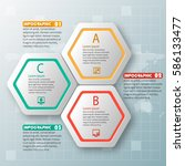 vector abstract 3d paper... | Shutterstock .eps vector #586133477