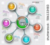 vector abstract 3d paper... | Shutterstock .eps vector #586133483