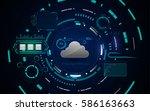 hud interface gui cloud network ...