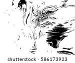 black and white liquid texture  ... | Shutterstock .eps vector #586173923