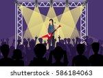 concert pop group artists on...   Shutterstock .eps vector #586184063