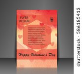 template flyer with love...   Shutterstock .eps vector #586185413