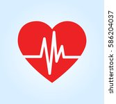 heartbeat vector icon | Shutterstock .eps vector #586204037
