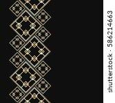 golden frame in luxury style.... | Shutterstock .eps vector #586214663