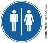 wctoilet sign blue. vector. | Shutterstock .eps vector #586220663