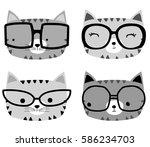 cute animals | Shutterstock .eps vector #586234703