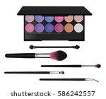 colorful eyeshadow palette ... | Shutterstock .eps vector #586242557