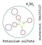 molecule k2so4 potassium... | Shutterstock .eps vector #586243127