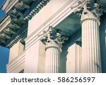 Classical greek columns in a...