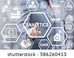 analytics big data industry 4.0 ... | Shutterstock . vector #586260413