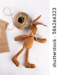 bunny handmade craft   Shutterstock . vector #586266323